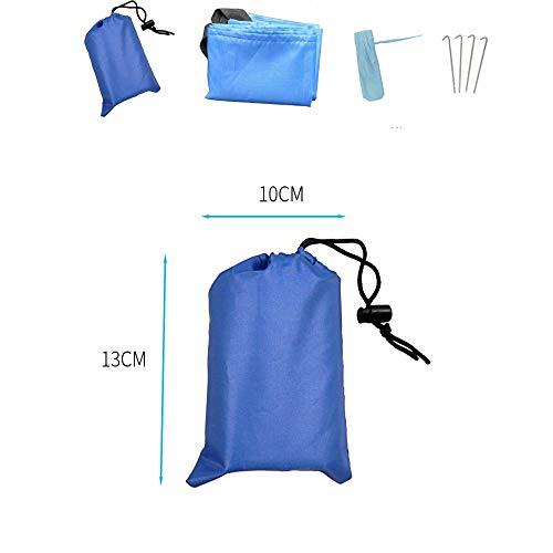 Strandzelt Oxford-Stoff wasserdicht tragbare Tasche Faltbare Sand Outdoor Proof Stranddecke kompakte sandfreie Matte schnell trocknend, leicht und langlebig Camping Zelt (Color : Blue, Size : S)