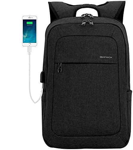 KOPACK Lightweight Laptop Backpack USB Port 15.6 Inch Business Slim Commute Travel Bag