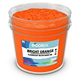 Ecotex Bright Orange Water Based Fluorescent Discharge Ink for Screen Printing Non Phthalate Formula for Fabric Textiles (Pint - 16 oz.)