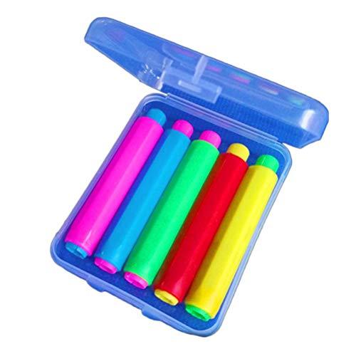 YeahiBaby 5 Pcs Titular de Tizas Coloreado y Caja de Almacenamiento 9.5x1.5cm Color Aleatorio
