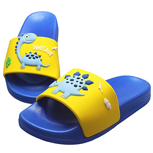 KRONJ Unisex Kinder Badeschuhe rutschfeste Pool Hausschuh Sommer Strand Sandale Slipper Blau-23