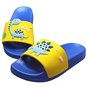 KRONJ Chanclas de Ducha Niño Niña Verano Zapatillas de Ducha Sandalias Piscina Antideslizantes Azul-33