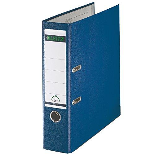 Leitz 10105035 Qualitäts-Ordner (Plastik-Cover, A4, 8 cm Rückenbreite) blau