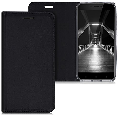 kwmobile Xiaomi Redmi 4X Hülle - Kunstleder Handy Schutzhülle - Flip Cover Case für Xiaomi Redmi 4X - Handyhüllen (Xiaomi, Redmi 4X)