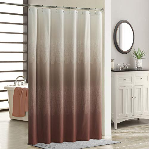 """SDLIVING Ombre Lace Chocolate Popular Shower Curtain,Brown Fabric Shower Curtains for Bathroom,Contemporary Bathroom Curtains,Printed Waterproof Polyester Shower Curtain,72"""" W x 78"""" H"""