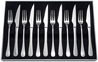 Juez de Tenedor y Cuchillo Set, Plata, 12