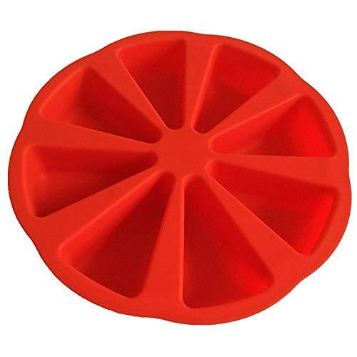 FEF 3D Molde de Silicona para Pasteles 8 Puntos Scone Cake Pan Molde para Hornear Gelatina Molde para Magdalenas Utensilios para Hornear de Cocina Utensilios para Hornear, Rojo, China