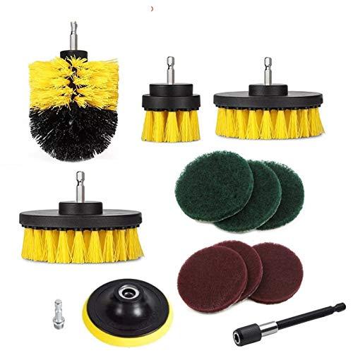 Yqhpg 12 taladros eléctricos para Almohadillas de Esmalte, Kit de Herramientas, duraderos y fáciles de Usar, utilizados para Limpiar bañeras, enlechado, Superficies de baños, etc.