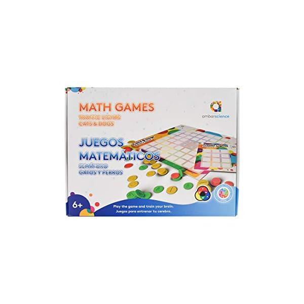 ambarscience GATOS&PERROS Matemáticos Semáforo|Gatos y Perros-Pack 2 Juegos de mesa de estrategia STEM y educativos para…