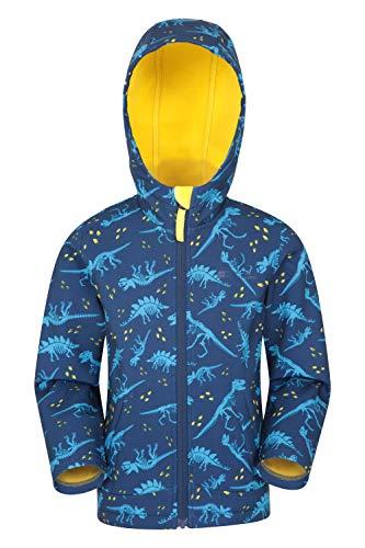 Mountain Warehouse Exodus Kinder Wasserabweisende Softshelljacke Übergangsjacke Regenjacke mit Kapuze Winddicht atmungsaktiv Outdoor Unisex Gelb 5-6 Jahre