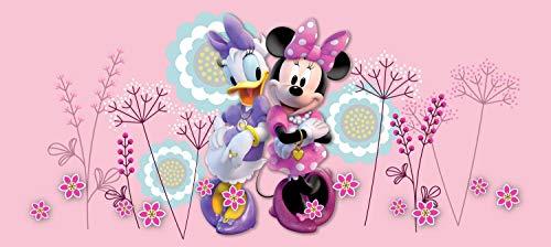 AG Design Freundinnen Minnie Mouse und Daisy, Disney, Vlies Fototapete für EIN Kinderzimmer, 202 x 90 cm, FTDN H 5390, Mehrfarbig