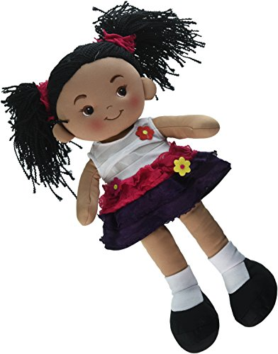 Linzy Toys Aissa Handmade Fabric Rag Doll with Pink Dress 16 Inch