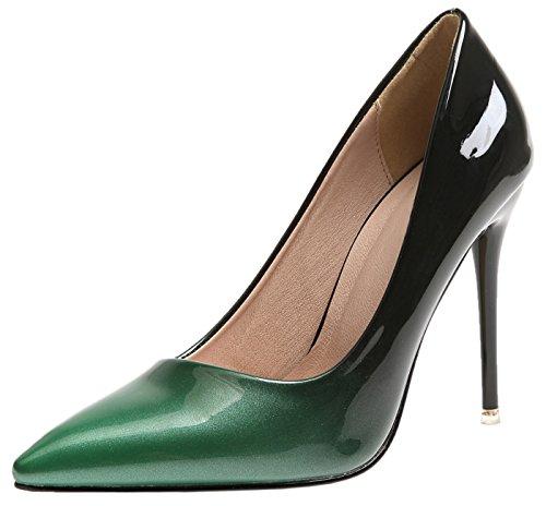 BIGTREE Kleid Pumps Für Damen Grün Gradients Stiletto Hochzeit High Heels Schuhe 37 EU