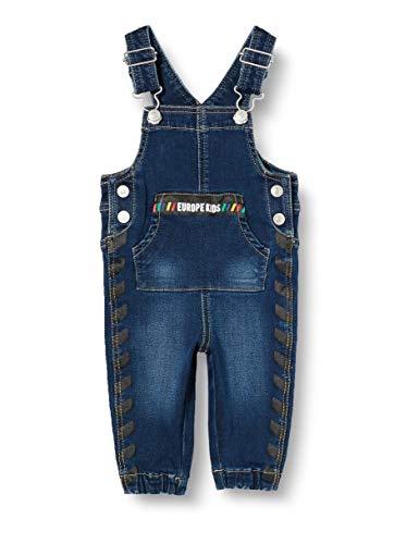 United Colors of Benetton (Z6ERJ) Jungen Salopette Overalls, Blau 901, 74