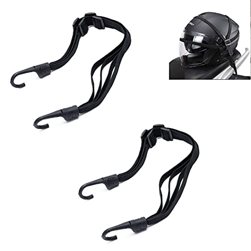 HUIYING Cinghia per Il Bagaglio della Bici Cinghia Elastica Cinghie Moto Bagaglio Portacaso Corda Elastica con Ganci Cintura portabagagli regolabile,per Moto Bici Scooter Portacasco
