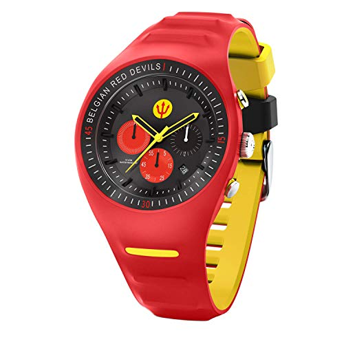 Ice-Watch - RED DEVILS P. Leclercq - Red - Rote Herrenuhr mit Silikonarmband - Chrono - 016102 (Large)