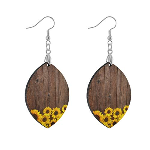 Earring for Women Leaf Sunflower Fashion Earrings Girls for Valentine's Day Double Layered Lightweight