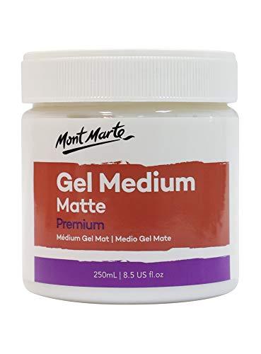 Mont Marte Medium Acrilico Mate – 250ml – Gel Medium para un Acabado Mate – Barniz acrílico para Pinturas Acrílicas