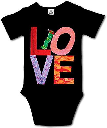 Love from Very Hungry avec Le Body bébé Unisexe à Manches Courtes pour bébé Caterpillar Blanc