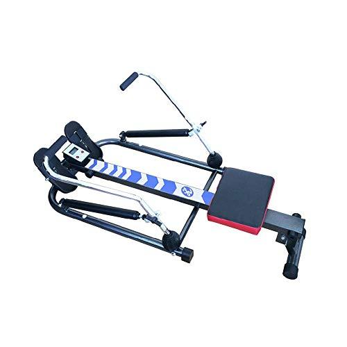 LOKKG Hydraulische Rudergerät, Beinkrafttraining, Einstellbarer Rudergerät mit HD-Datenrad, kann Crank ist umklappbar um Platz zu sparen