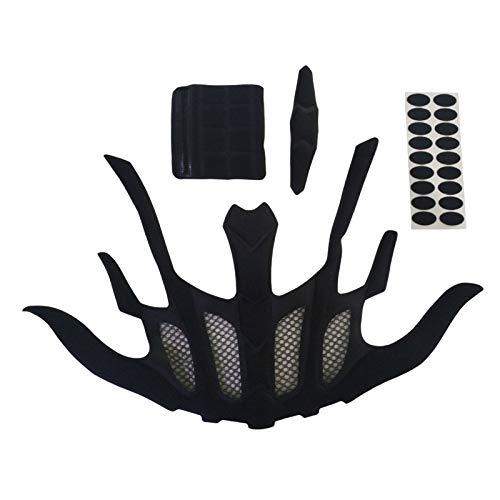 chiwanji Almohadilla de Protección para Ciclismo Kit de Acolchado Interior para Casco Almohadillas de Esponja de Espuma - Forma de murciélago