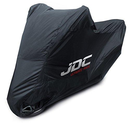 JDC Telo Copri Moto 100% Impermeabile - Ultimate Rain (Extra Forte, Fodera Felpata, Resistente al Calore, Cuciture Sigillate) - L
