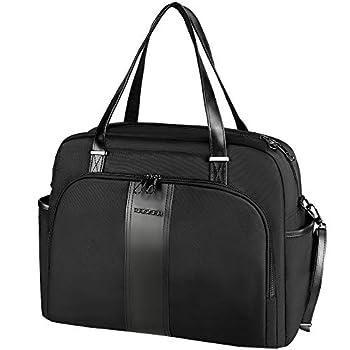 KROSER Laptop Tote Bag 15.6  Stylish Shoulder Bag Water-Repellent Large Travel Bag with RFID Pockets for Work/Business/College/School/Women-Black