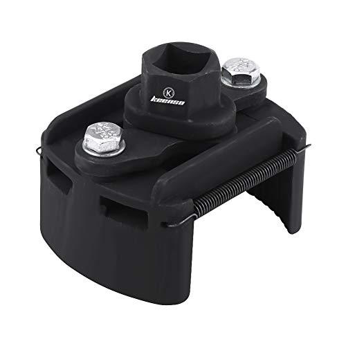 Llave del filtro de aceite, 60mm-80mm herramienta de removedor de llave inglesa, ajustable, 2 mandíbula
