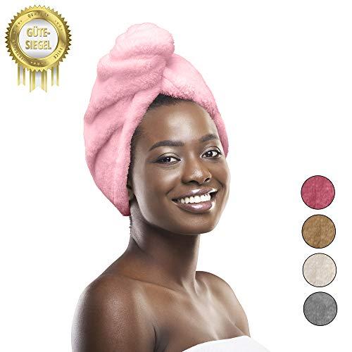 Homefeeling Premium Haarturban (2Stück) - schnelltrocknend sorgt für traumhaft schönes Haar - Schonend Haare trocknen Dank Quick Dry Hair Towel - 100% Mikrofaserhandtuch