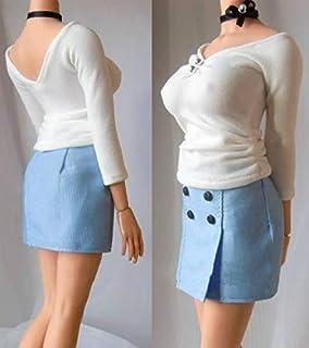 [TOYBARJAPAN ]1/6 フィギュア 用 アクセサリー/ 女子大生 美人OL オフィスレディ セクシーTシャツとショットスカート服セット (素体とヘッドは含まりません)