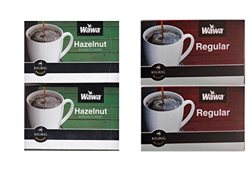Wawa Single Cup Coffee K-Cups for Keurig Brewers - 24 Count (Hazelnut) & 24 count (Original)