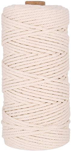 Baumwollseil, handgemachte natürliche Baumwollfaden, DIY weiches Webmaterial, multifunktionales Set von Kunsthandwerk und Zubehör (B)