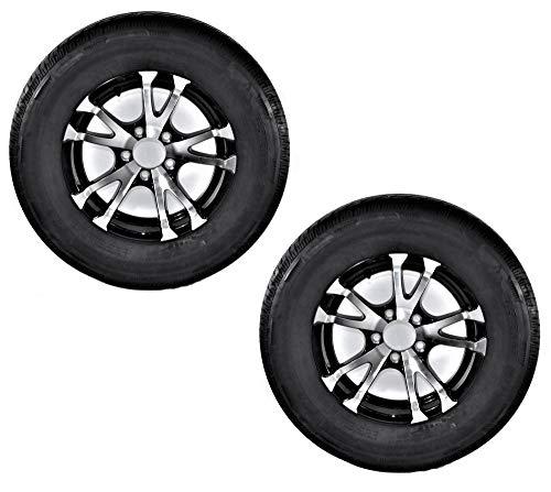 2-Pack Eco Trailer Tire Rim ST205/75D15 Load C 5 Lug covid 19 (Spoke Aluminum Trailer Tire coronavirus)