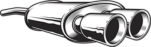 Shinobi Stickers Black And White Automobile Car Exhaust Pipe Cartoon Vinyl Sticker (2' Wide)
