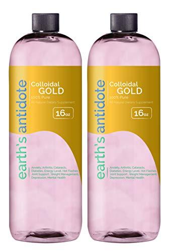 Earths Antidote Colloidal Gold 2 16oz Bottles