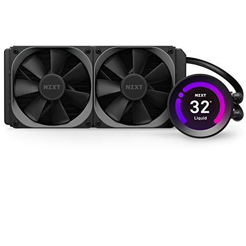 NZXT Kraken Z53 240 mm - RL-KRZ53-01 - Enfriador líquido de CPU AIO RGB - Pantalla LCD personalizable Bomba mejorada Conector RGB Ventiladores de radiadorAerP de 120 mm(2incluidos)