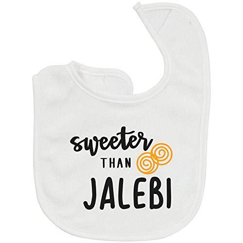 TwentyFourDoves Sweeter Than Jalebi Bib, Pakistani Baby, Indian Baby, Desi (One Size)