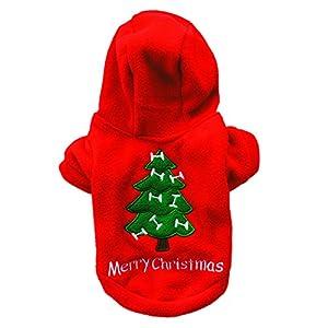 LAAT Chien Sweat à capuche D'hiver Gilet Vêtements de Noël pour Chien Motif d'arbre de Noël