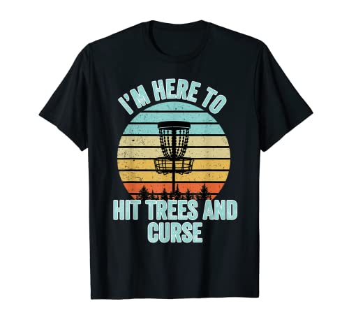 Disc Golf Shirt Funny Hit Trees and Curse Retro Disc Golf Gi T-Shirt