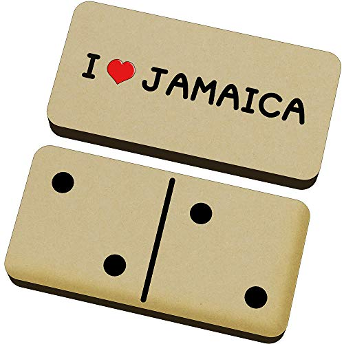 Stamp Press 'I Love Jamaica' Domino-Spiel und Box (DM00000084)