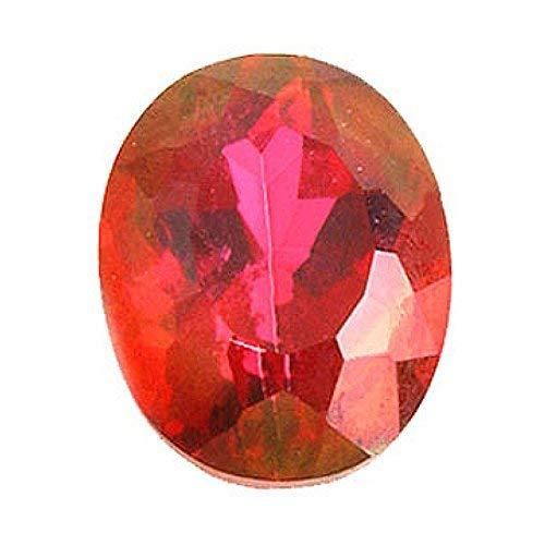 Oval Crimson Red Topaz Loose Gemstone by Mysticdrop