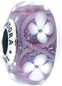 Abalorio Pandora 791667 Mujer Campo de Flores Morado