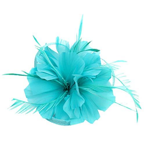 Aiserkly - Tocado de plumas para mujer, diseño de flores, para cóctel,...