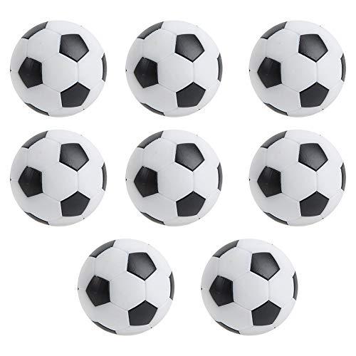 Nannday Mini balones de fútbol de Mesa, balones de fútbol de Mesa, Mini Sala de Deportes de Ocio Negro de 8 Piezas para entusiastas del fútbol