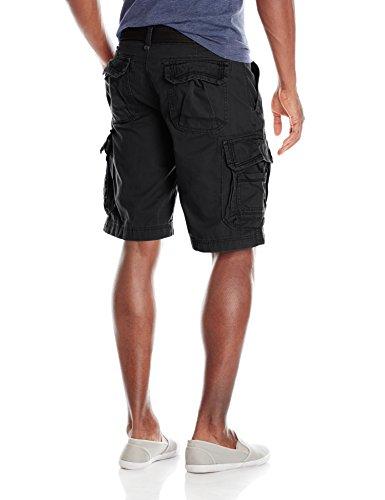 Unionbay Men's Survivor Belted Cargo Short, Black, 42