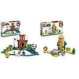 lego super mario fortezza sorvegliata pack di espansione, giocattolo, set di costruzioni, 71362 & super mario marghibruco del deserto pack di espansione, giocattolo, set di costruzioni, 71363