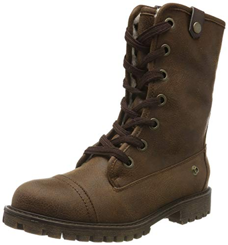 Roxy Damen Bruna-Lace-up Boots for Women Schlupfstiefel, Braun (Dark Brown DBR), 40 EU