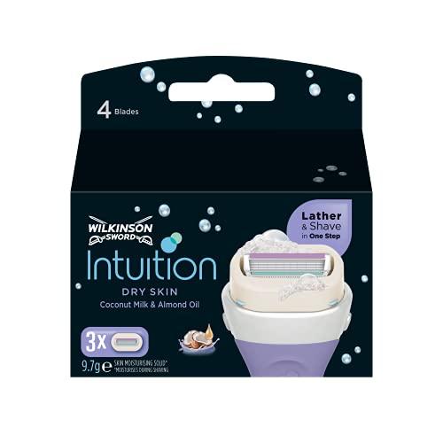 Wilkinson Sword Intuition Dry Skin Rasierklingen für Damen Rasierer, 3 St