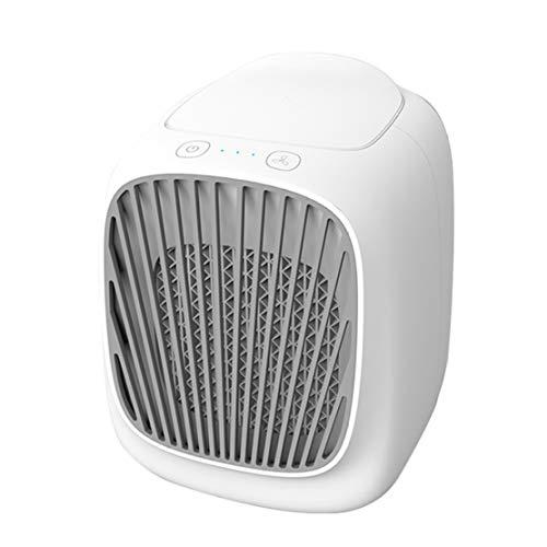 JLDN Personale Condizionatore, Evaporativo Raffrescatore Portatile 3 velocità con Ventilatore Humidificador Luces LED Purificatore per Casa, Ufficio, Camper,White
