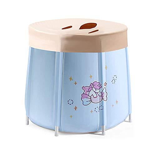 WSJTT Bañera portátil, plegable separada, baño familiar, bañera de hidromasaje, bañera de pie, mantenimiento eficiente de la temperatura, ideal para baño caliente (tamaño: A65 x 70 cm + tapa)